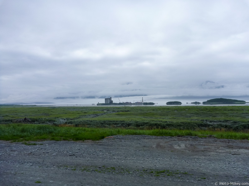 Oil processing site where the Alaska pipeline ends