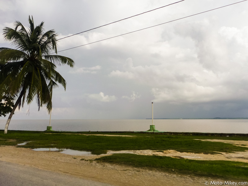 The Belize Caribbean (and lots of rain in the distance)