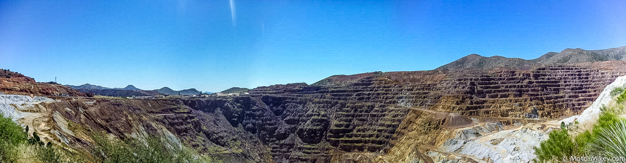 Panorama of a Copper Mine near Bisbee, Arizona