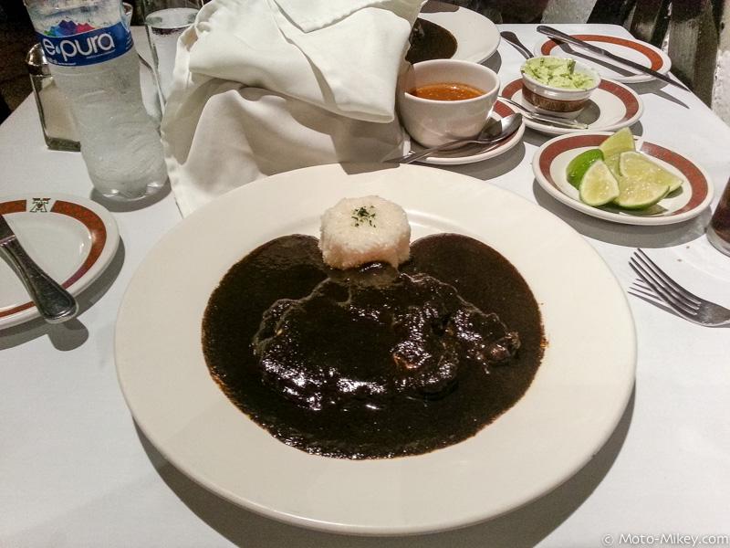 Pollo con Mole negro. Really really good!