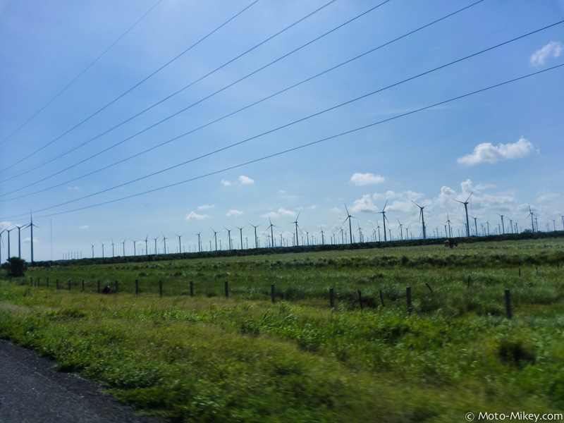 Hundreds of wind turbines but no wind!?