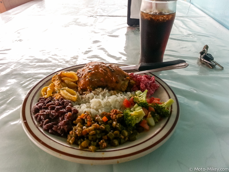 A typical Costa Rican lunch