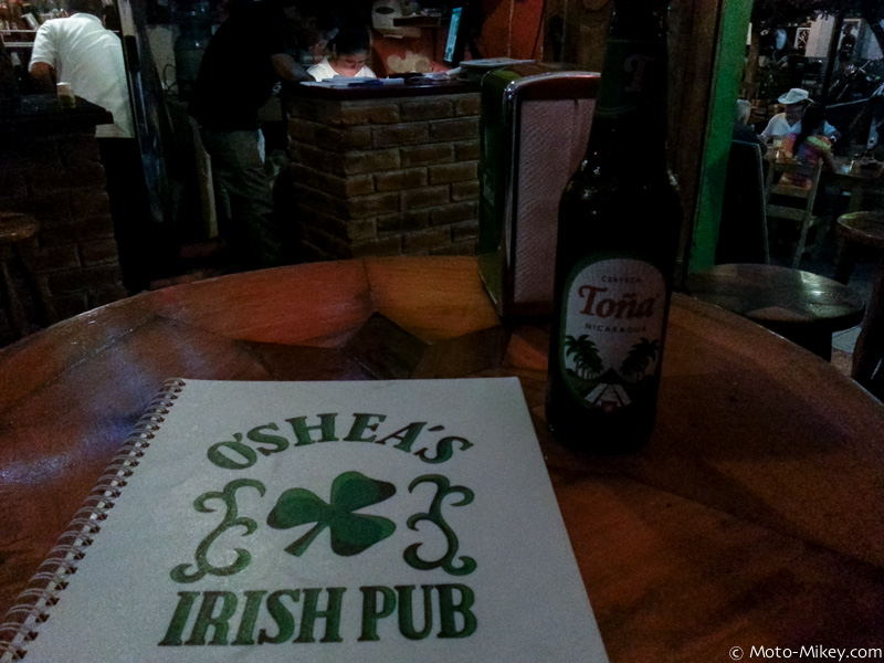 Dinner and beer at an Irish pub
