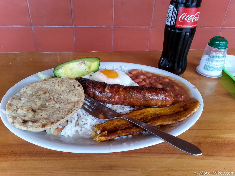 Lunch: Bandeja Paisa. Really good and one of my favorites