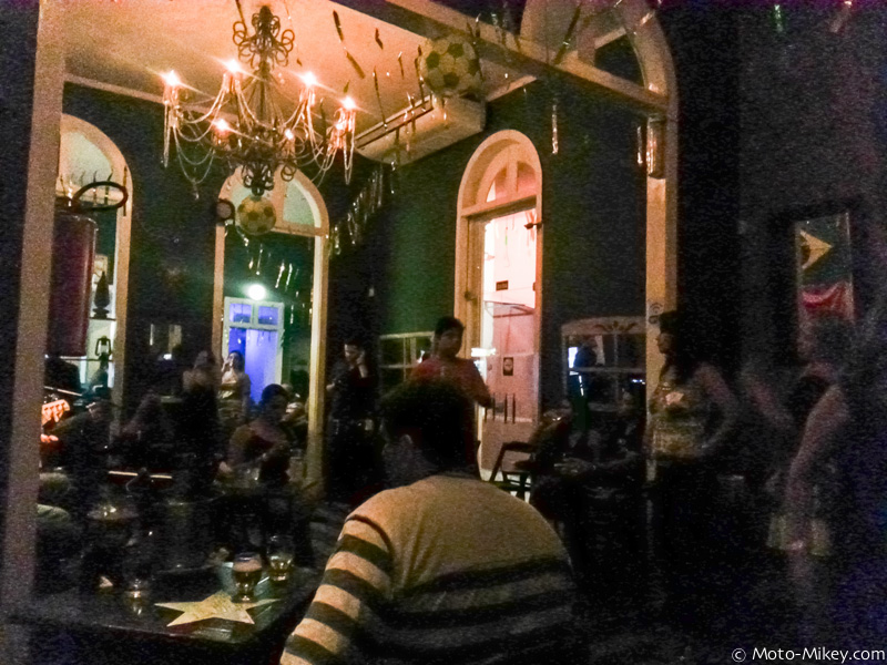 Crappy cell phone photo of a dark bar/Samba house. It had live music and a laid back atmosphere. Cool place.